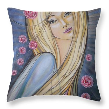 Sun And Roses 081008 Throw Pillow