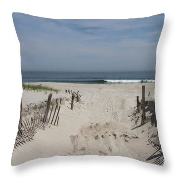 Sun And Sand Throw Pillow by Christiane Schulze Art And Photography