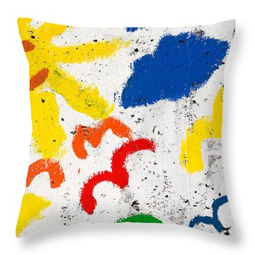 Sun And Seagulls Throw Pillow by Gaspar Avila