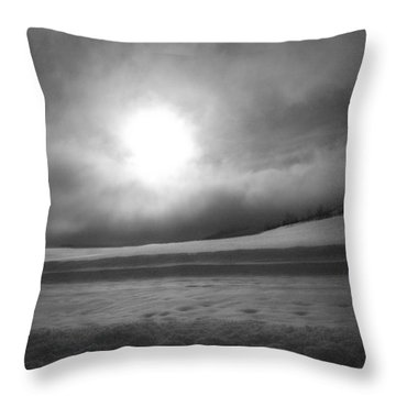 Throw Pillow featuring the photograph Sun And Snow by Tarey Potter
