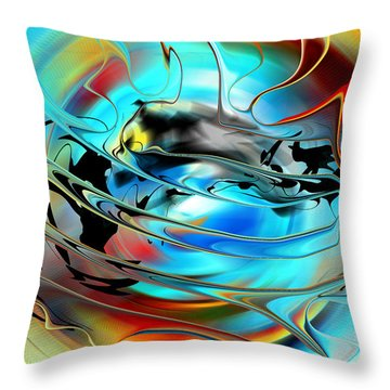 Sun And Weather - North America Throw Pillow