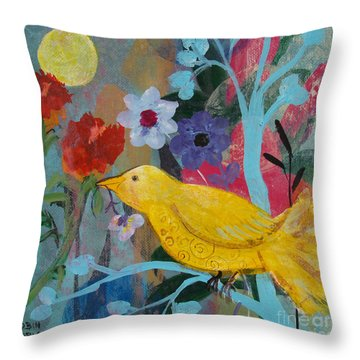 Sun Bearer Throw Pillow by Robin Maria Pedrero