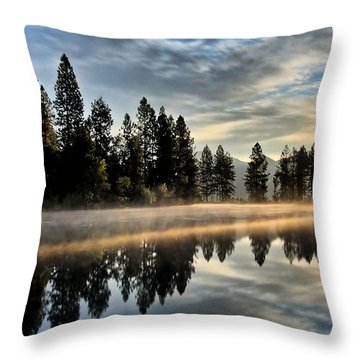 Sun Blessed Pond Throw Pillow