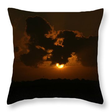 Sun Block Throw Pillow by John Glass