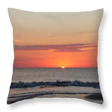 Sun Breaks Horizon Throw Pillow by Robert Banach