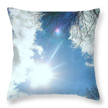 Throw Pillow featuring the photograph Sun Burst by Pamela Hyde Wilson