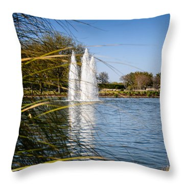 Sun City Entrance Throw Pillow