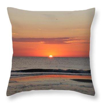 Sun Colors Throw Pillow by Robert Banach