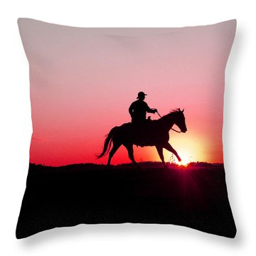 Sun Dancer Throw Pillow by Steven Bateson