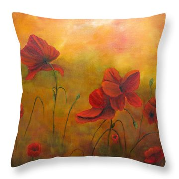 Sun Dancers Throw Pillow by Loretta Luglio