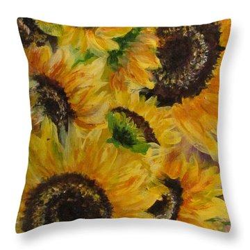 Sun Danse Throw Pillow by France Laliberte