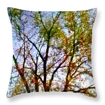 Sun Dappled Throw Pillow
