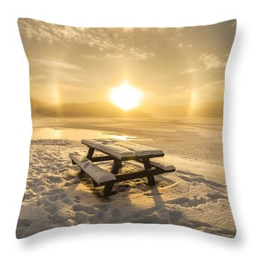 Sun Dog Throw Pillow by Rose-Maries Pictures