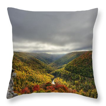 Sun Finding Openings In The Clouds Throw Pillow