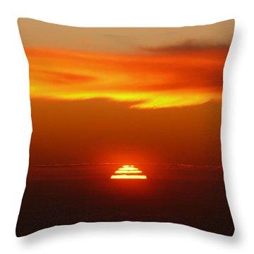 Sun Fire Throw Pillow