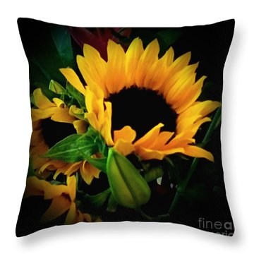Sun Flower 2 Throw Pillow