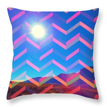 Throw Pillow featuring the mixed media Sun God by Michelle Dallocchio
