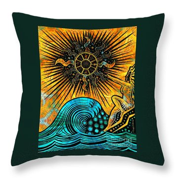 Big Sur Sun Goddess Throw Pillow
