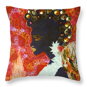 Sun Guardian - The Keeper Of The Universe Throw Pillow