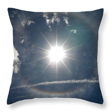 Sun Halo Throw Pillow by Lainie Wrightson