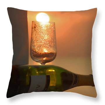 Throw Pillow featuring the photograph Sun In Glass by Leticia Latocki