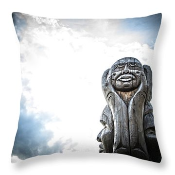 Sun In Hands Throw Pillow