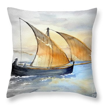 Sun In The Sails  Throw Pillow by Eleonora Perlic