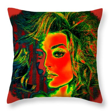 Throw Pillow featuring the digital art Sun Kissed by Digital Art Cafe