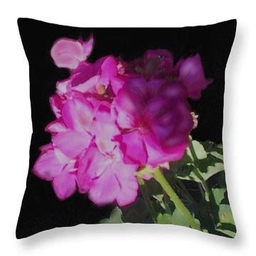 Sun Kissed Geranium  Throw Pillow by Christine Fournier