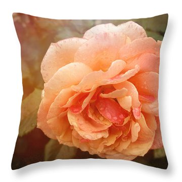 Sun Kissed Rose Throw Pillow