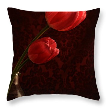 Sun Kissed Tulips Throw Pillow by Darren Fisher