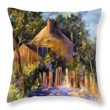 Throw Pillow featuring the painting Sun Kissed Welcome by Rae Andrews