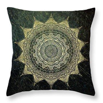Sun Mandala - Background Variation Throw Pillow