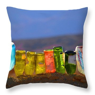Sun Meets Glass Throw Pillow