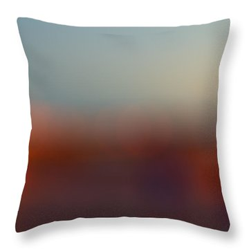Sun On Horizon Throw Pillow by J Riley Johnson