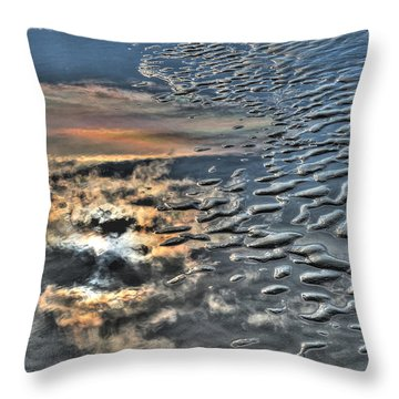 Sun On Sand Throw Pillow
