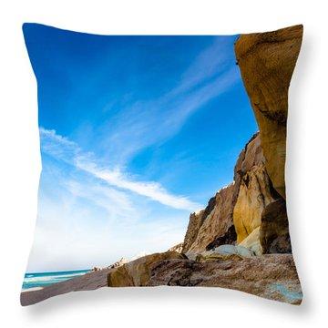 Sun On The Beach Throw Pillow by Edgar Laureano