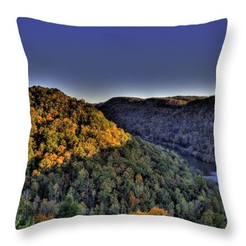 Sun On The Hills Throw Pillow by Jonny D