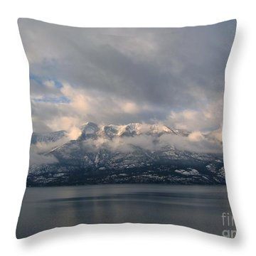 Sun On The Mountains Throw Pillow