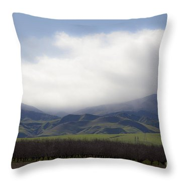 Sun On The South Tehachipis Throw Pillow