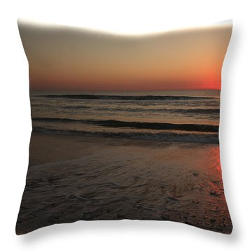 Sun Over The Ocean Throw Pillow
