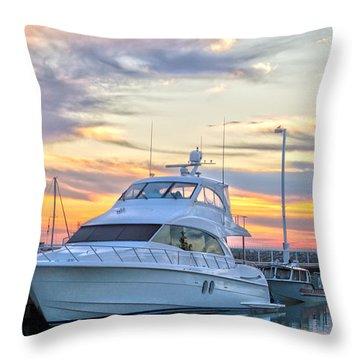 Sun Peaking II Throw Pillow by James  Meyer