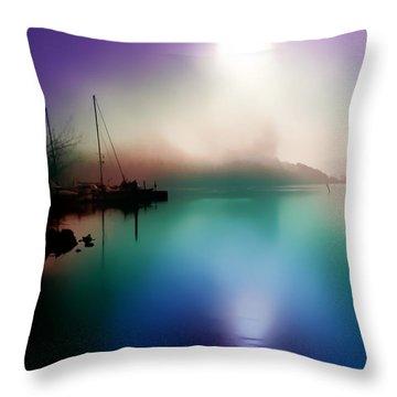 Sun Peeking Through The Clouds  In Kenmore Washington Throw Pillow