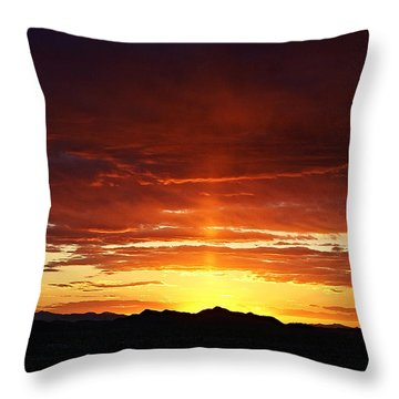 Sun Pillar Throw Pillow