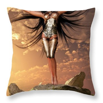 Sun Priestess 2 Throw Pillow