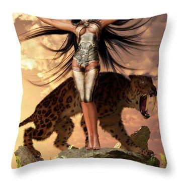 Sun Priestess Throw Pillow