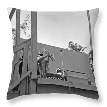 Sun Ra Arkestra Uc Davis Quad 3 Throw Pillow by Lee  Santa
