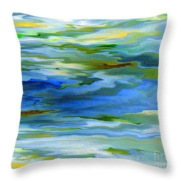 Sun Ray Reflection Throw Pillow by Cedric Hampton