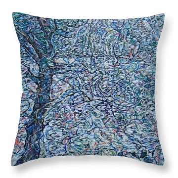 Lake Of Silver  Throw Pillow