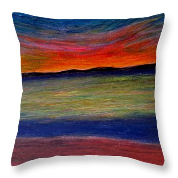 Sun-rest Throw Pillow